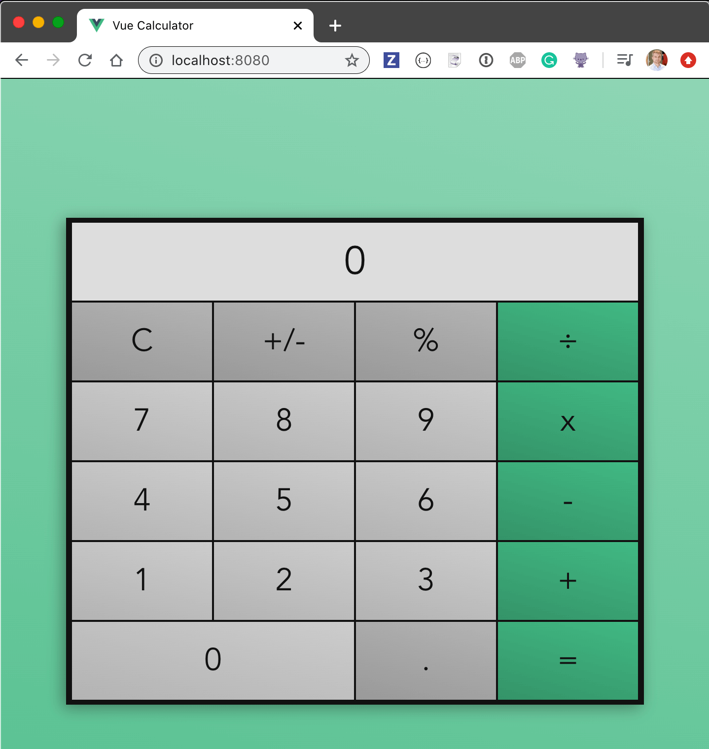 Vue calculator application