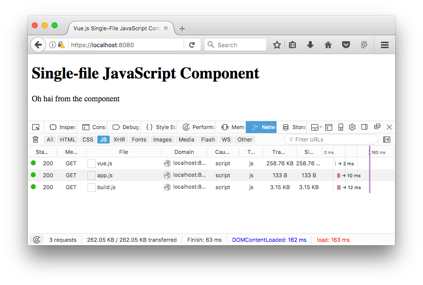 Vue js Single-File JavaScript Components In The Browser